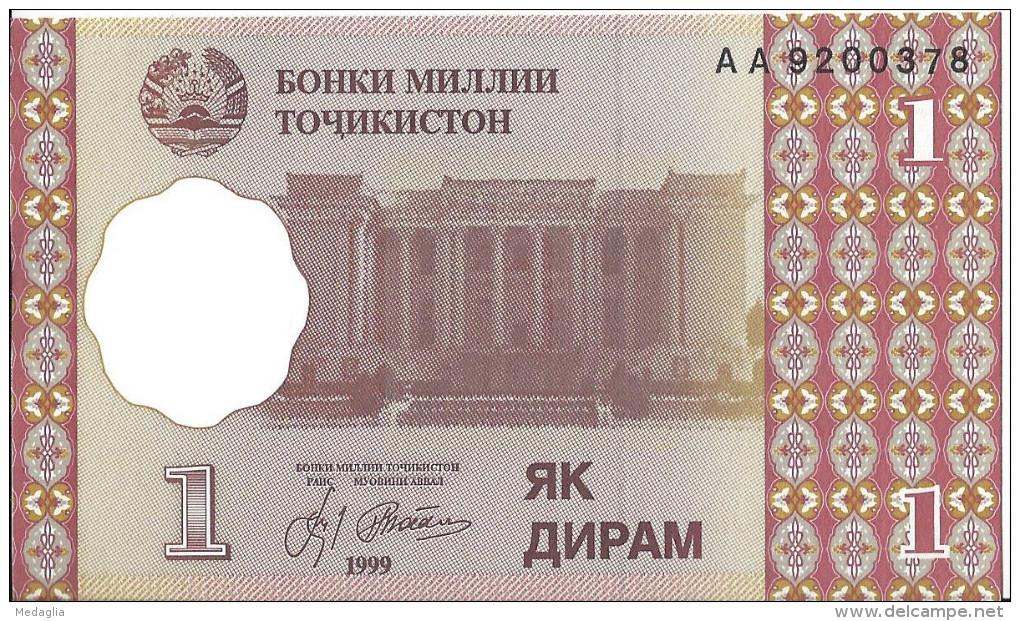 TADJIKISTAN - 1 Diram 1999 UNC - Tajikistan