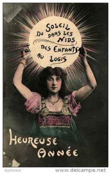 Bergeret, Heureuse Année - Femme Gitane, Du Soleil Dans Les Nids (couleur - Bergeret