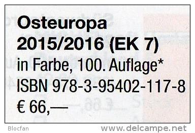 Ost-Europa Band 7 Briefmarken Katalog 2015/2016 Neu 66€ MICHEL Polska Russia SU Sowjetunion Ukraine Moldawia Weißrußland - Deutsch
