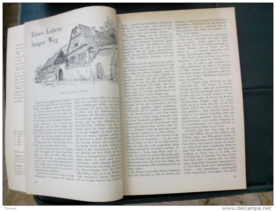 EN ALLEMAND 1965 ALMANACH DE L' EGLISE EVANGELIQUE LUTHERIENNE Succède Aux Almanachs De Strasbourg KEMPF OBERLIN ALSACE - Christianisme