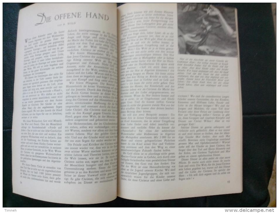 EN ALLEMAND 1963 ALMANACH DE L' EGLISE EVANGELIQUE LUTHERIENNE Succède Aux Almanachs De Strasbourg KEMPF OBERLIN ALSACE - Christianisme
