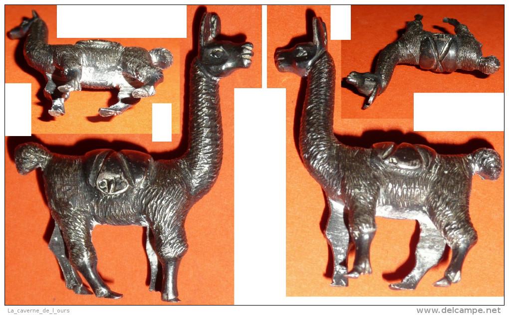 Rare Figurine Métal Kinder Ou Autre Vintage Lama - Figurines En Métal