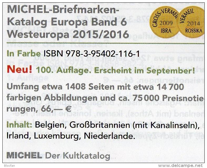 Ost-/West-Europa Katalog 2015/2016 Neu 132€ MICHEL Band 6+7 B GB NL L EIRE Jersey Man PL USSR RU Moldawia UA Weißrußland - Material Und Zubehör