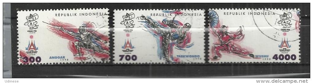 INDONESIA  1998 - SOUTH EAST ASIAN GAMES - CPL. SET - USED OBLITERE GESTEMPELT USADO - Indonésie