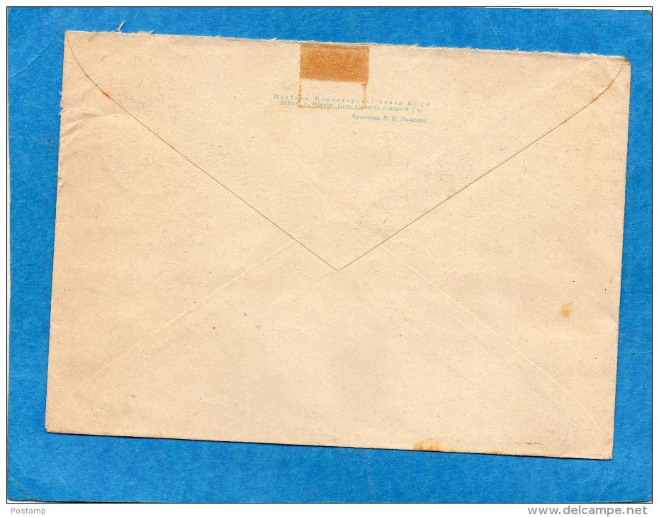 MARCOPHILIE-lettre Entier Postal-avion 6 Kp +complément Aff  5 Timbres -cad 1961 - 1923-1991 UdSSR