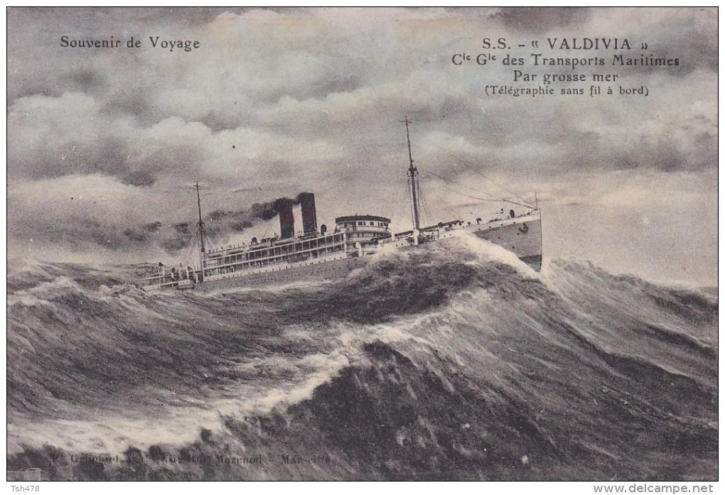 """C P A---PAQUEBOT---S S """"VALDIVIA"""" Cie Gle Des Transports Maritimes Par Grossse Mer ---voir 2 Scans - Paquebots"""