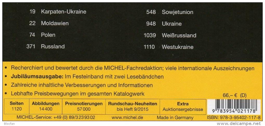 MICHEL South/East-Europe Catalogue 2016 New 132€ Part 3+7 AL I Fiume YU KRO Malta SRB Vatikan PL Russia USSR UA Moldawia - Sonstige
