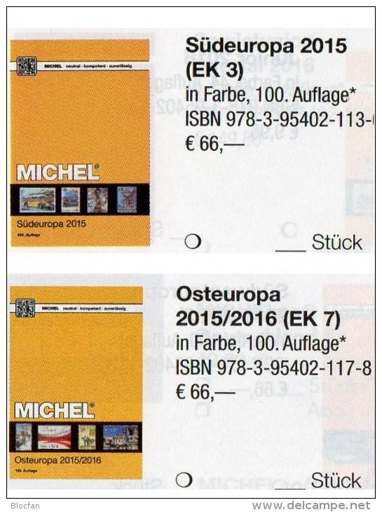 MICHEL South/East-Europe Catalogue 2016 New 132€ Part 3+7 AL I Fiume YU KRO Malta SRB Vatikan PL Russia USSR UA Moldawia - Télécartes