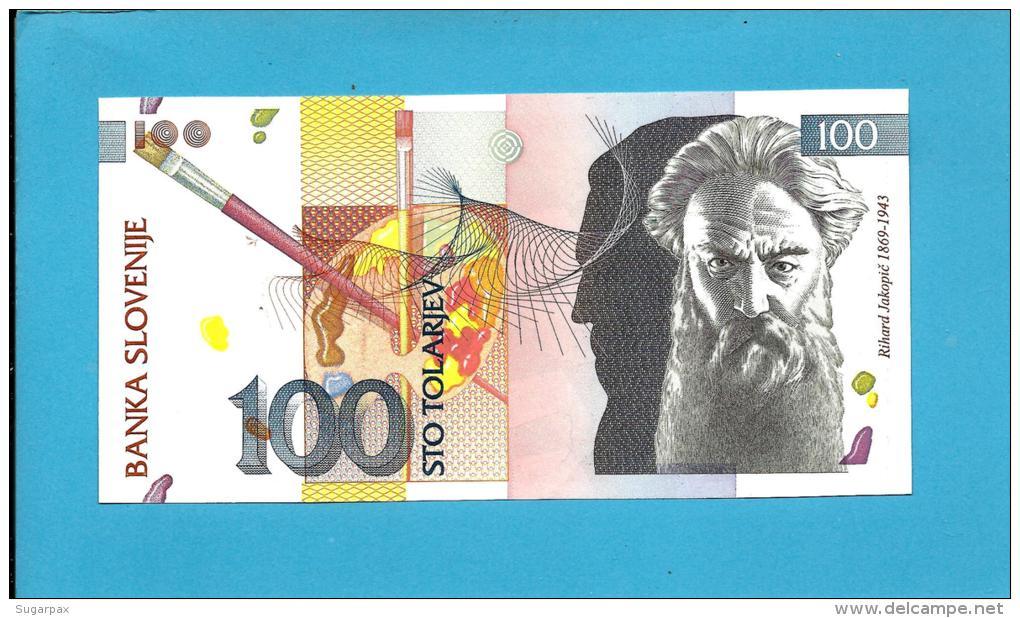 SLOVENIA - 100 TOLARJEV - 1992 - Pick 14 -  UNC. - Prefix DD - Banka Slovenije - 2 Scans - Slovénie