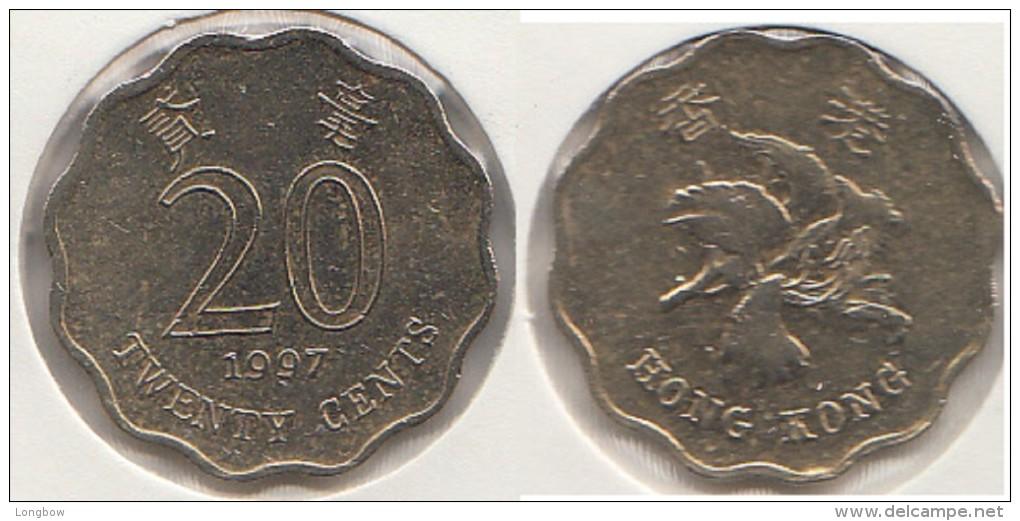 Hong Kong 20 Cents 1997 Km#67 - Used - Hong Kong