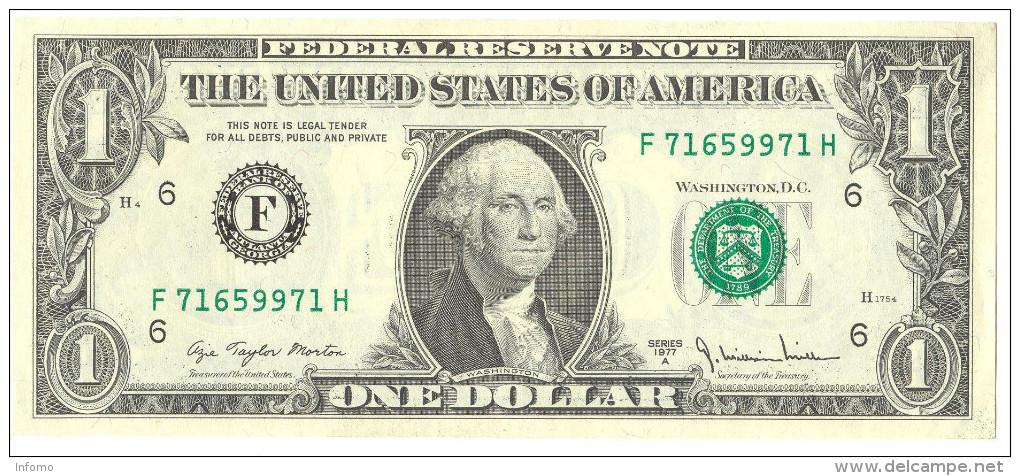 USA 1 Dollar 1977 UNC - Federal Reserve (1928-...)