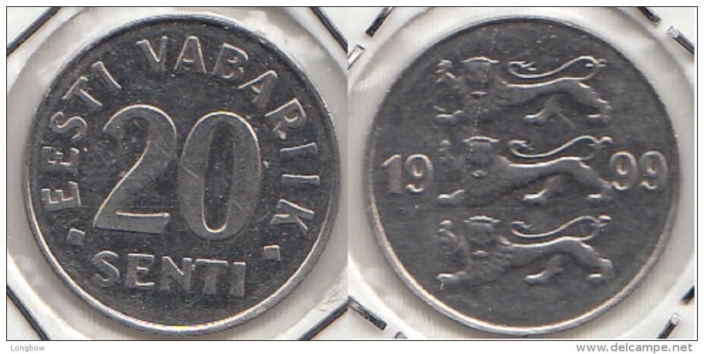 Estonia 20 Senti 1999 Km#23a - Used - Estonie