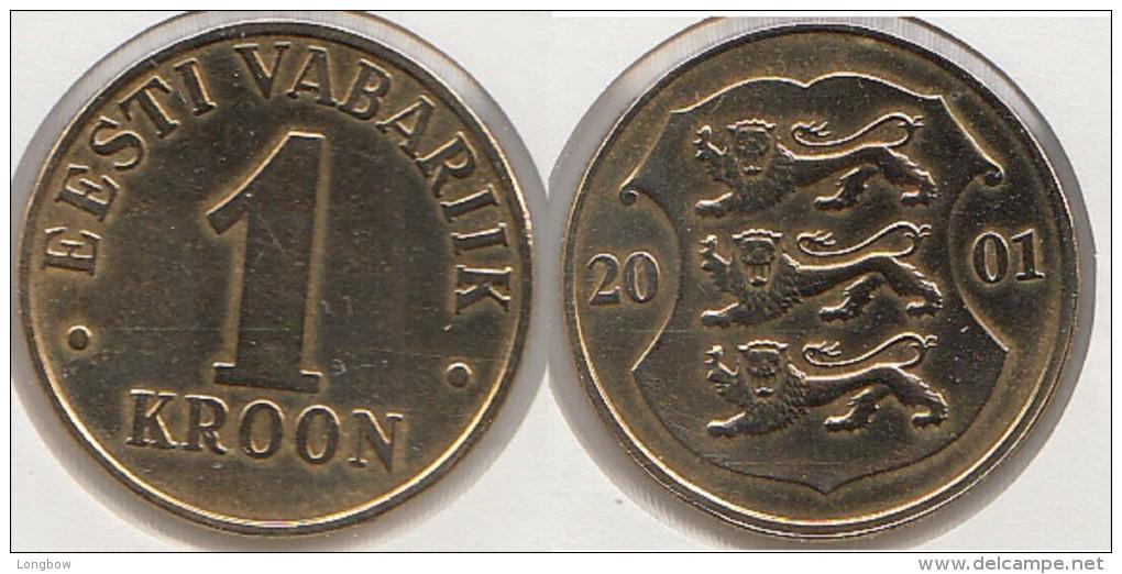 Estonia 1 Kroon 2001 Km#35 - Used - Estonie