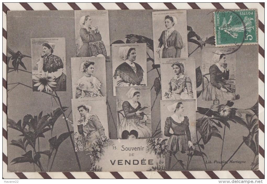 5AH1785 SOUVENIR DE VENDEE COIFFES  2 SCANS - Non Classés