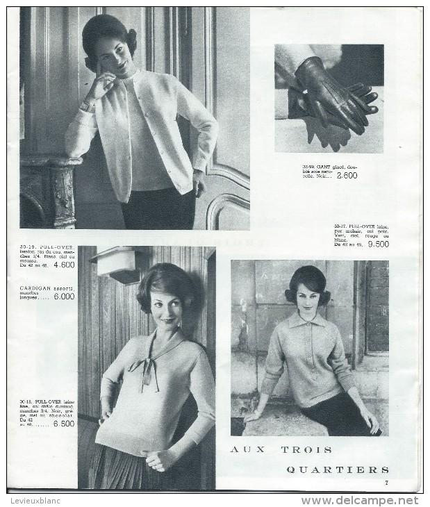 """Catalogue/Magasin/""""Aux Trois Quartiers""""/Paris/Delaporte/1959     CAT80 - Textile & Vestimentaire"""