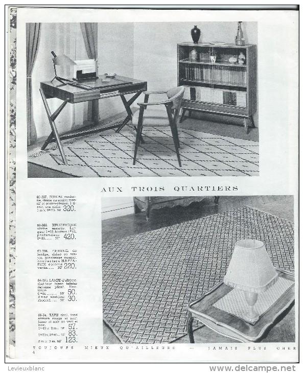 """Catalogue/Magasin/""""Aux Trois Quartiers""""/Ameublement/Paris/Delaporte/1960     CAT82 - France"""