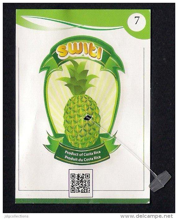 # PINEAPPLE SWITI 7 Type 1 Fruit Tag Balise Etiqueta Anhanger Ananas Pina Costa Rica - Fruits & Vegetables