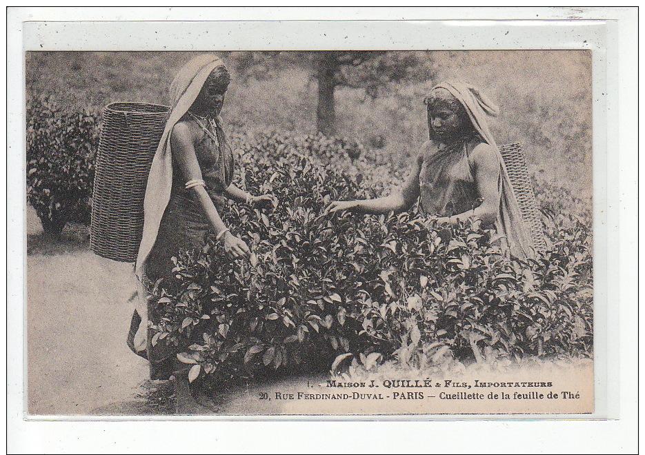 SRI LANKA (CEYLAN) - Cueillette Du Thé - Maison J. Quillé & Fils PUBLICITE - Très Bon état - Sri Lanka (Ceylon)