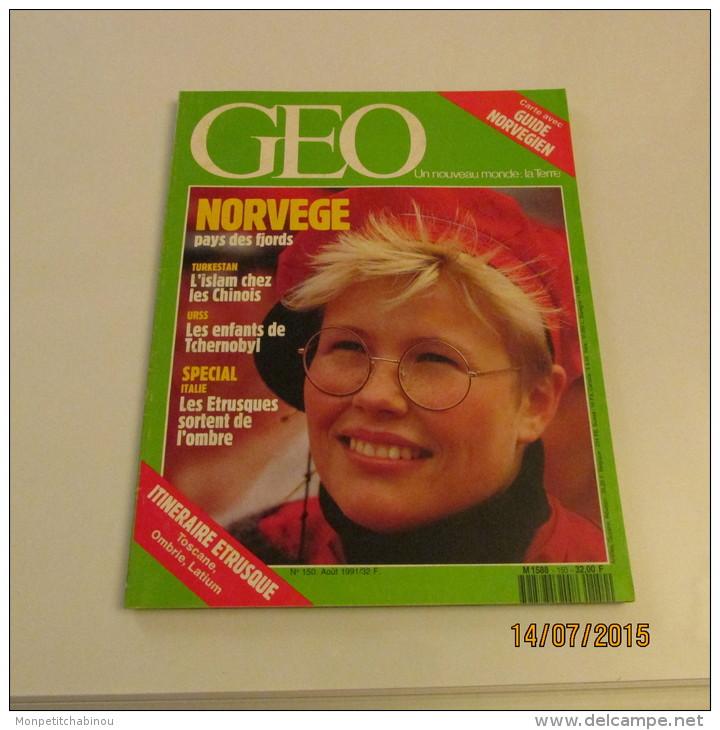 GEO N°150 (08/1991) : NORVEGE, PAYS DES FJORDS - Géographie