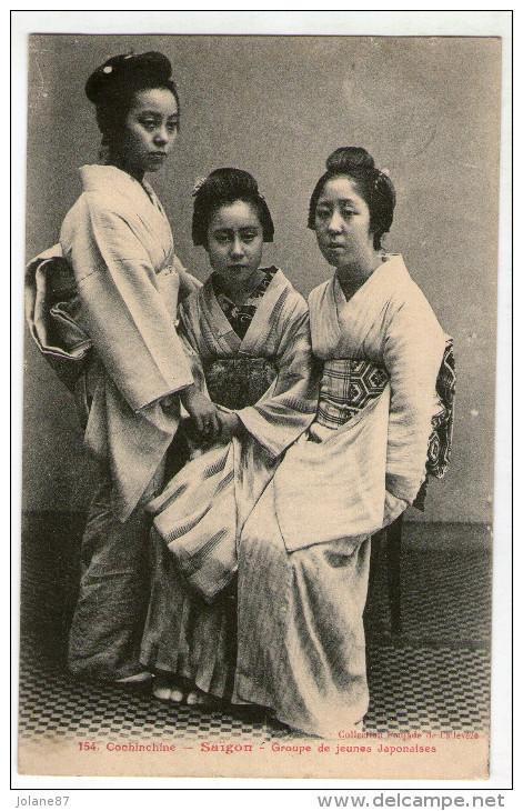 CPA  VIET NAM       COCHINCHINE       SAIGON     1912       JEUNES JAPONAISES - Vietnam