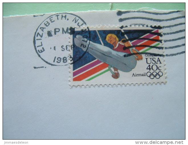 USA 1983 Cover To England - Olympics - Gymnastics Rings - Etats-Unis