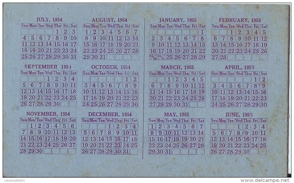 Calendrier /Carte D'invitation/ Cecil MURRAY/Belfast / Irlande/Objets De Curiosité/1954-55  CAL212 - Calendriers
