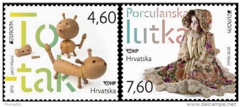 Croatia 2015 Europa CEPT, Old Toys, Set MNH - Croatie