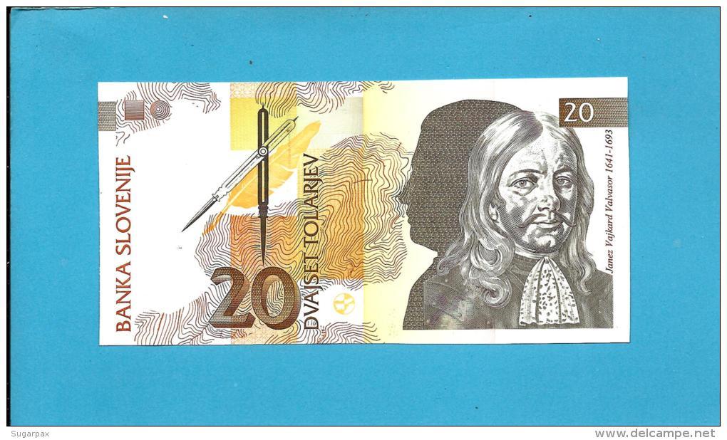 SLOVENIA - 20 TOLARJEV - 1992 - Pick 12 -  UNC. - Prefix AA - Banka Slovenije - 2 Scans - Slovénie