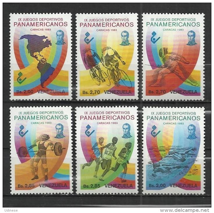 VENEZUELA 1983 - PANAMERICAN GAMES - CPL. SET - MNH MINT NEUF NUEVO - Venezuela