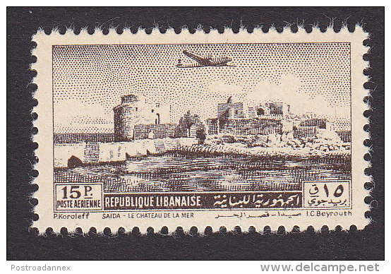 Lebanon, Scott C160, Mint Hinged, Crusader Castle, Issued 1950 - Lebanon