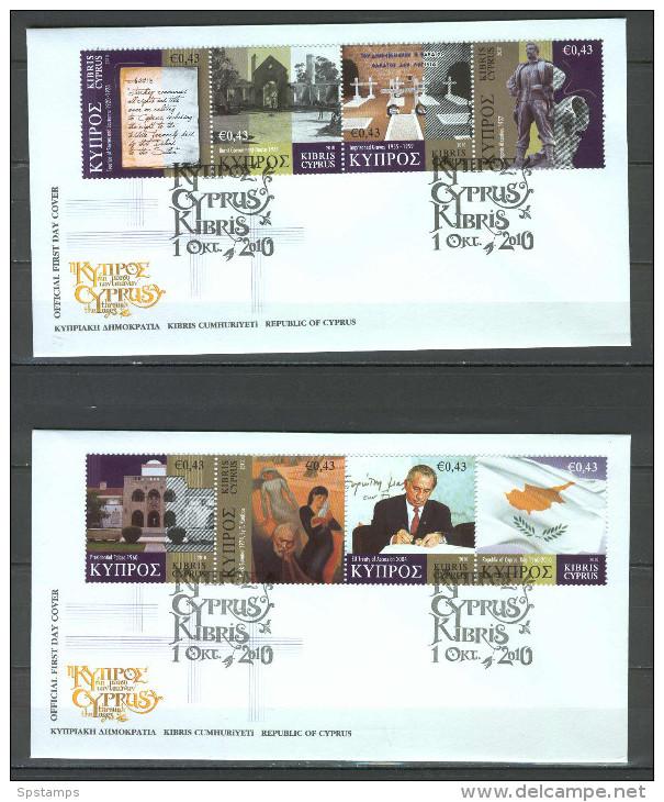 Cyprus 2010 Cyprus Thrugh The Ages FDC - Chypre (République)