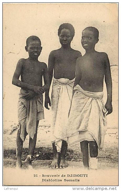 Pays Divers- Afrique -ref D829- Djibouti - Souvenir De Djibouti - Diablotins Somalis -somalie  - Carte Bon Etat  - - Djibouti