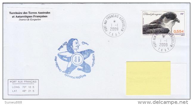 TAAF Enveloppe Port Aux Français Ker 2009 (Petrel Plongeur) - Terres Australes Et Antarctiques Françaises (TAAF)