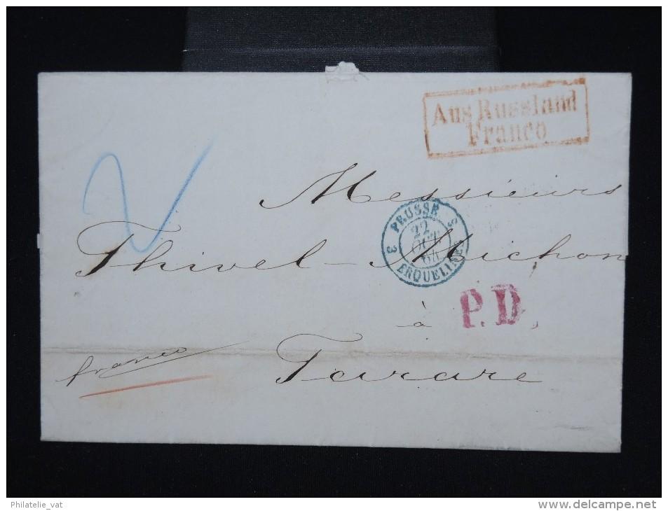 RUSSIE - Lettre ( Avec Texte ) De St Petersbourg Pour Tarare ( France ) En 1864 - à Voir- P7941 - 1857-1916 Imperium