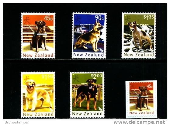 NEW ZEALAND - 2006  YEAR OF THE DOG  SET  MINT NH - Nuova Zelanda