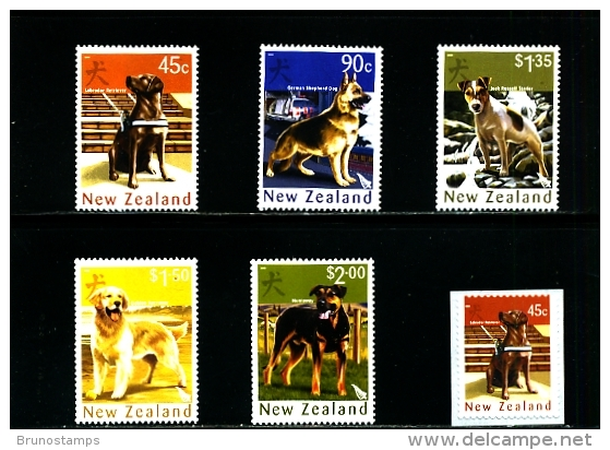 NEW ZEALAND - 2006  YEAR OF THE DOG  SET  MINT NH - Nuovi