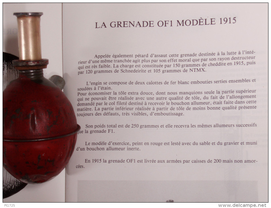 TRES BELLE GRENADE FRANCAISE OF1 MODELE 1915 - 1914-18