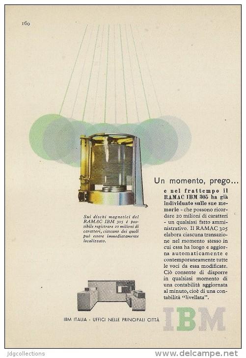 # IBM Electronics Computer 1970s Advert Pubblicità Publicitè Reklame Ordinateur Elektronik Calcolatore - Other