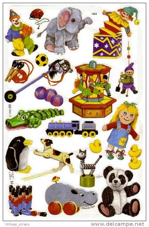 SCRAPS MLP 1853 Children Toys Les Jouets Des Enfants Mamelok Sheet Decoupis Feuille Decoupage Cardmaking Glanzbilder - Scrapbooking