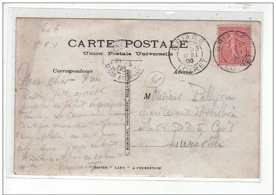 BRIARE - CARTE PHOTO - MILITAIRE - Entrée Du 32è D'artillerie - Très Bon état - Briare