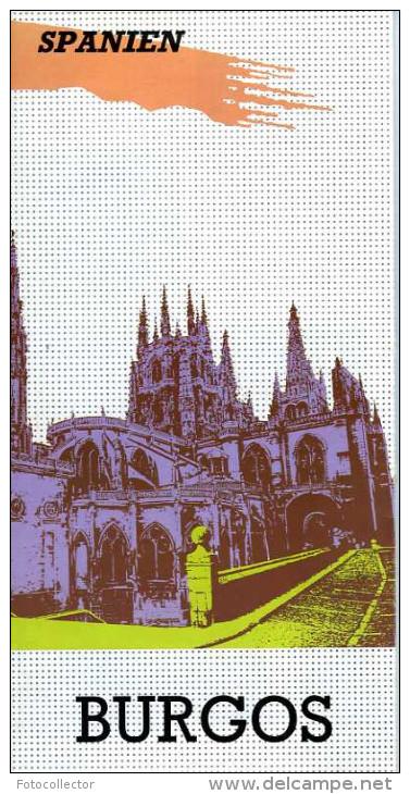 Espagne Dépliant Touristique Ville De Burgos (en Allemand) - Toeristische Brochures