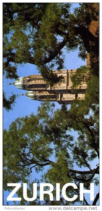 Suisse Dépliant Touristique Ville De Zurich (en Anglais) - Toeristische Brochures