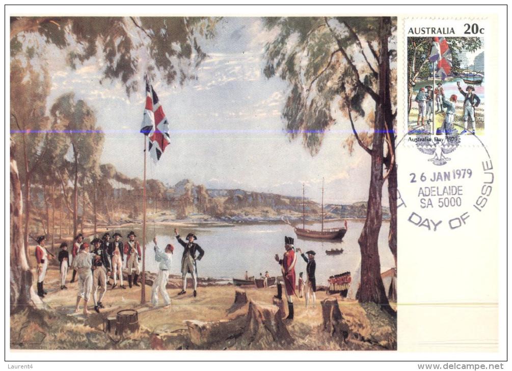 (PH 450) Australia - Maxicard - Sydney Cover 1788 (x 2 Different Postmarks) - Histoire