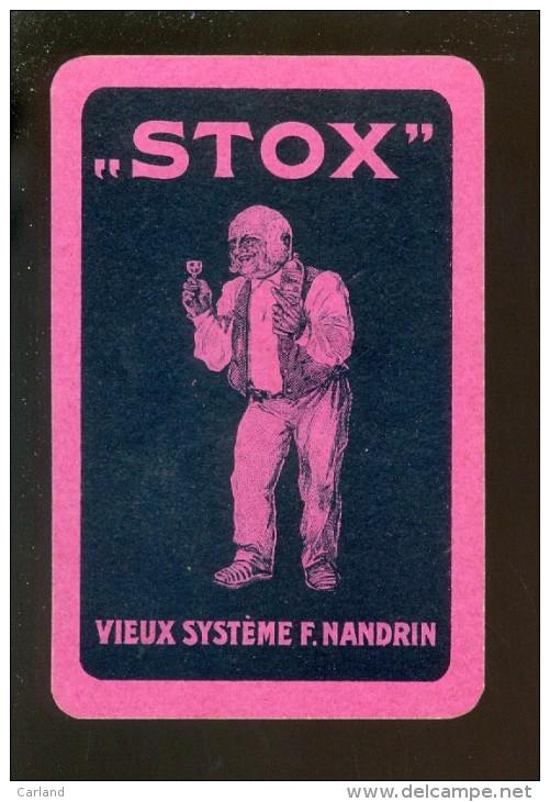 Speelkaart ( 720 ) Dos D´ Une Carte à Jouer - Wijn Vin Likeur Liqueur Distillerie Stokerij -   STOX - Non Classés