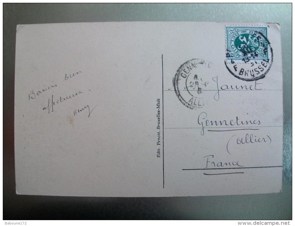 Carte Postale Belgique Bruxelles Théatre Royal De La Monnaie Oblitérée 35 Cent. - Monumenten, Gebouwen
