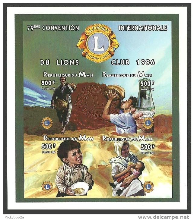 MALI 1996 LIONS ROTARY MINERALS WATER IMPERF M/SHEET MNH - Mali (1959-...)