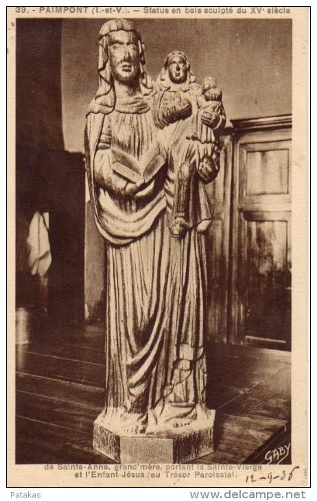 Paimpont - Sainte-Anne Portant La Sainte Vierge -  (a2306) - Paimpont