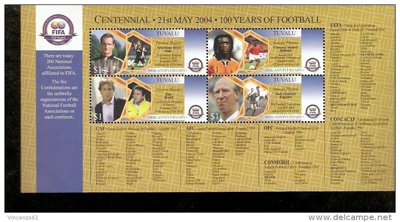 FIFA CENTENIAL 100 YEARS OF FOOTBALL TUVALU SEBASTIANO ROSSI SEEDORF - Non Classés
