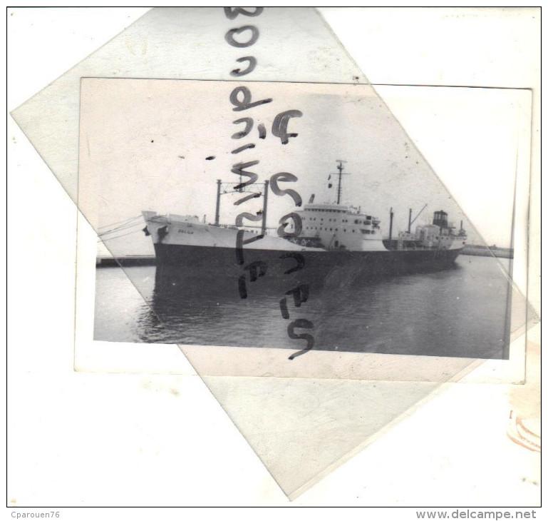 """Photo Bateau Navire Identifié """" DALILA""""  TRANSPORT MARITIME C.A.N 1954 SAINT NAZAIRE - Barche"""