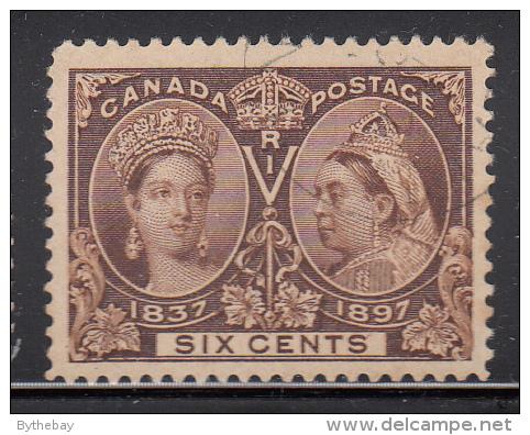 Canada Used Scott #56 6c Jubilee - Oblitérés